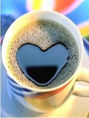 ハート型のコーヒー